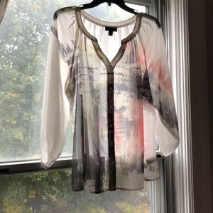 Watercolor design blouse